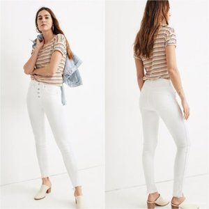 MADEWELL | 10 inch white skinny crop jeans